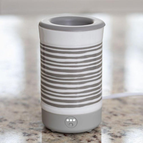 Signature Wax Warmer (Gray Stripe)