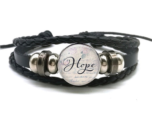 Hope - Snap Jewelry Charm Bracelet