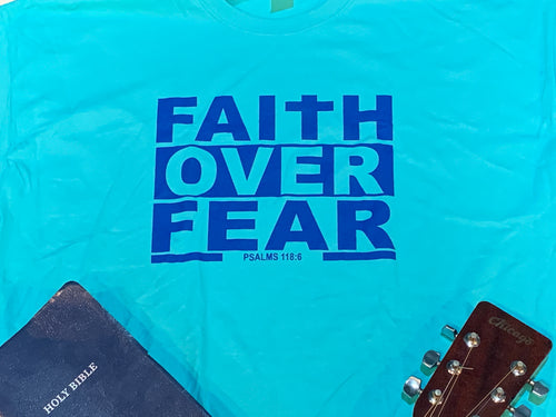Faith Over Fear(T-Shirt)Scuba/Royal