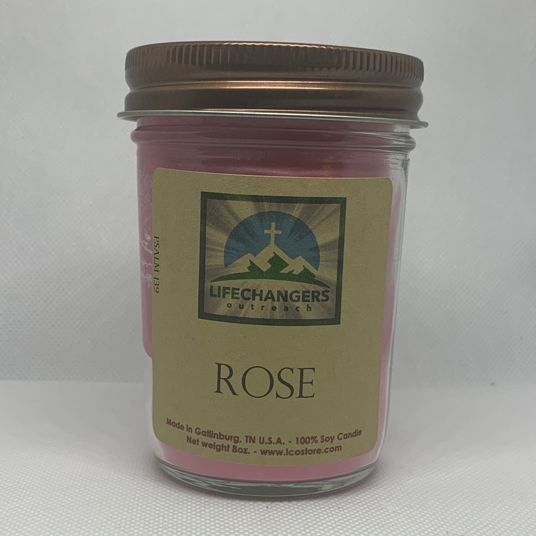 Rose Soy-Lotion Candles