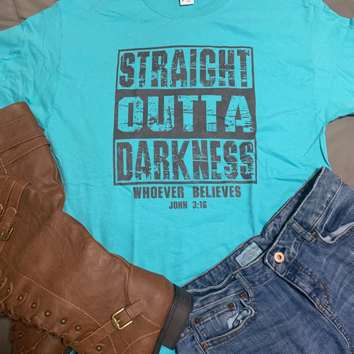 Straight Outta Darkness T-Shirt (Scuba/Black)