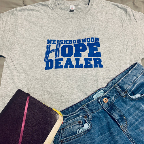 Neighborhood Hope Dealer T-Shirt (Gray/Blue)