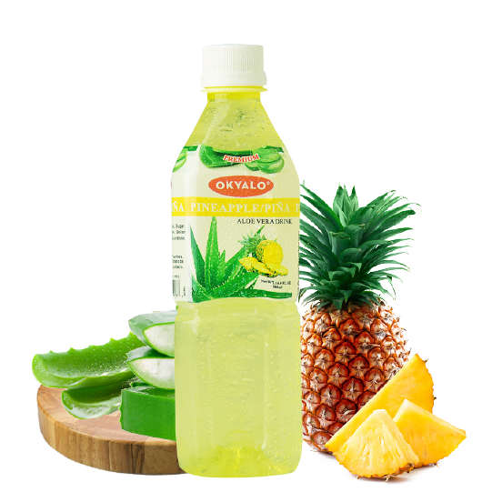 Agua de Aloe Vera - Sabor Piña 500 ml - The Market Delivery