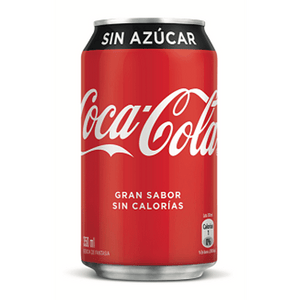 Pack lata Coca-Cola Zero 350 Ml - 6 Unidades - The Market Delivery