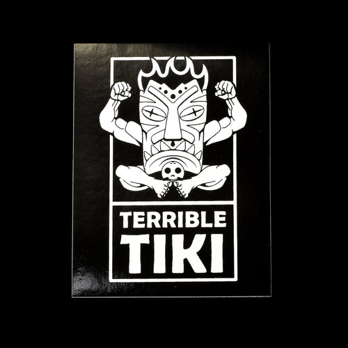 Terrible Tiki Black and White Vinyl Sticker