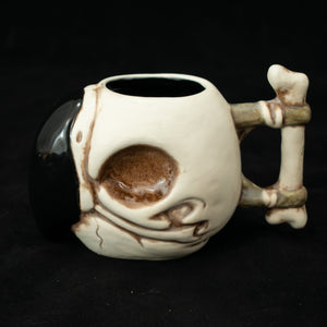 Parrot Skull Tiki Mug, Matte with Black