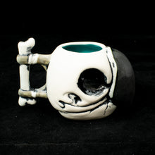 Load image into Gallery viewer, Parrot Skull Tiki Mug, Matte with Teal