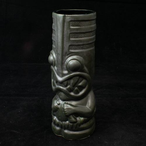 Toothy Tiki Mug, Burnished Steel Glaze