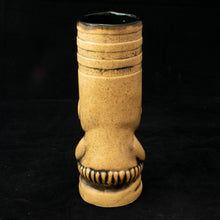 Load image into Gallery viewer, Toothy Tiki Mug, Sand Wipe Away with Black Interior Glaze