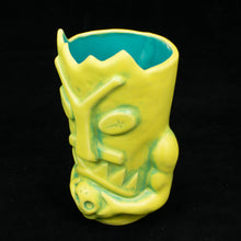 Load image into Gallery viewer, Terrible Tiki Mug, Pineapple Teal Wipe Away with Teal Interior