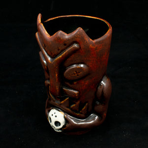 Terrible Tiki Mug, Firey Red with Black Interior