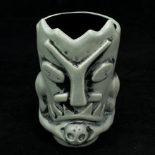 Load image into Gallery viewer, Terrible Tiki Mug, Grey and Black Wipe Away with Black Interior