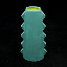 Load image into Gallery viewer, Tall Spiky Tiki Mug, Matte Teal with Chartreuse Green