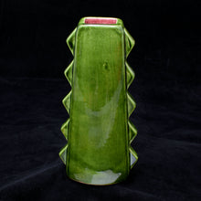 Load image into Gallery viewer, Tall Spiky Tiki Mug, Green with Red