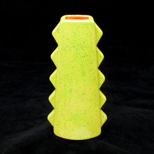 Load image into Gallery viewer, Tall Spiky Tiki Mug, Gloss Yellow Green Speckled