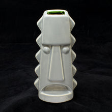 Load image into Gallery viewer, Tall Spiky Tiki Mug, Matte Stingray Grey with Green