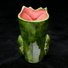 Load image into Gallery viewer, Terrible Tiki Mug, Gloss Green with Red