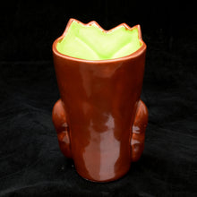 Load image into Gallery viewer, Terrible Tiki Mug, Blood Red with Lime Green