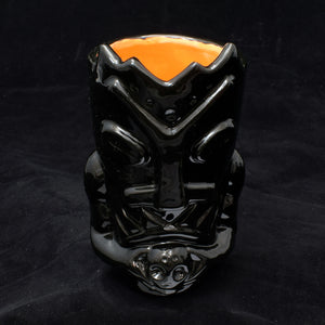 Terrible Tiki Mug, Gloss Black with Orange