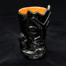 Load image into Gallery viewer, Terrible Tiki Mug, Gloss Black with Orange
