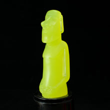 Load image into Gallery viewer, Created Mini Moai Figure, Lemon Glow in the Dark