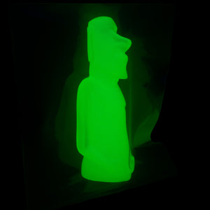 Created Mini Moai Figure, Lemon Glow in the Dark
