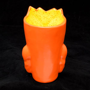 Terrible Tiki Mug, Bright Orange with Speckled Yellow