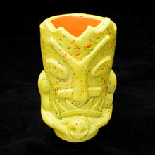 Load image into Gallery viewer, Terrible Tiki Mug, Speckled Yellow with Orange