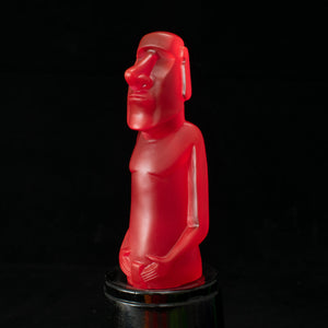Mini Moai Figure, Magenta Ice