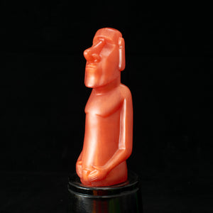 Mini Moai Figure, Orange Pearl