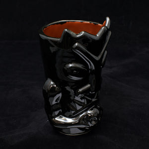 Terrible Tiki Mug, Gloss Black with Blood Red