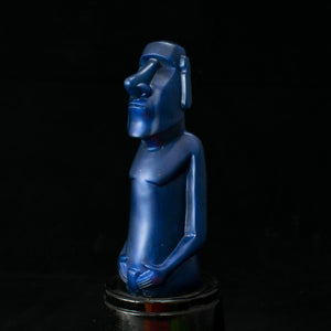 Mini Moai Figure, Navy Blue Pearl