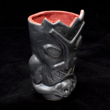 Load image into Gallery viewer, Terrible Tiki Mug, Matte Dark Grey with Red
