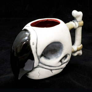 Parrot Skull Tiki Mug, Matte with Blood Red