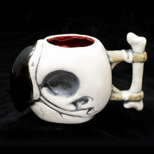 Load image into Gallery viewer, Parrot Skull Tiki Mug, Matte with Blood Red