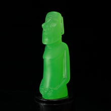 Load image into Gallery viewer, Mini Moai Figure, Green Ice Glow in the Dark