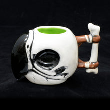Load image into Gallery viewer, Parrot Skull Tiki Mug, Gloss with Green