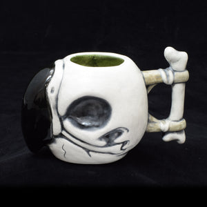 Parrot Skull Tiki Mug, Matte with Green Speckle