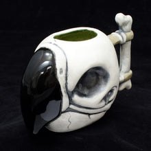 Load image into Gallery viewer, Parrot Skull Tiki Mug, Matte with Green Speckle