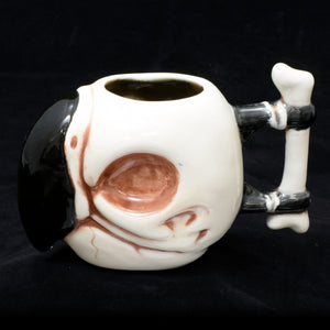 Parrot Skull Tiki Mug, Gloss Blood Wipe Away