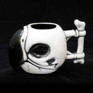 Parrot Skull Tiki Mug, Gloss with Black
