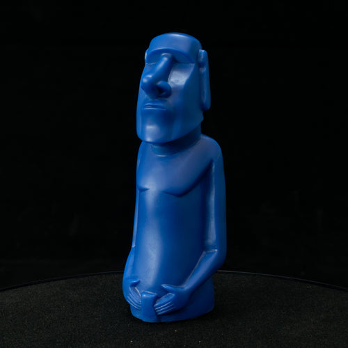 Mini Moai Figure, Blue