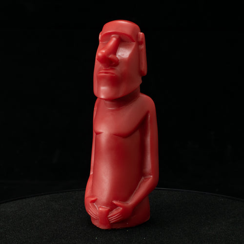 Mini Moai Figure, Red