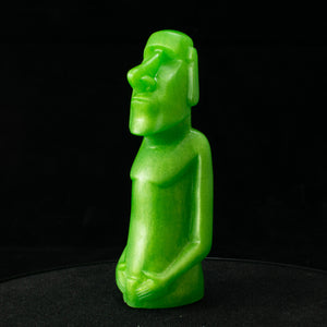 Mini Moai Figure, Green Apple Micro Glitter