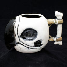 Load image into Gallery viewer, Parrot Skull Tiki Mug, Matte with Black