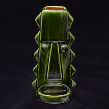 Load image into Gallery viewer, Tall Spiky Tiki Mug, Green with Brick Red