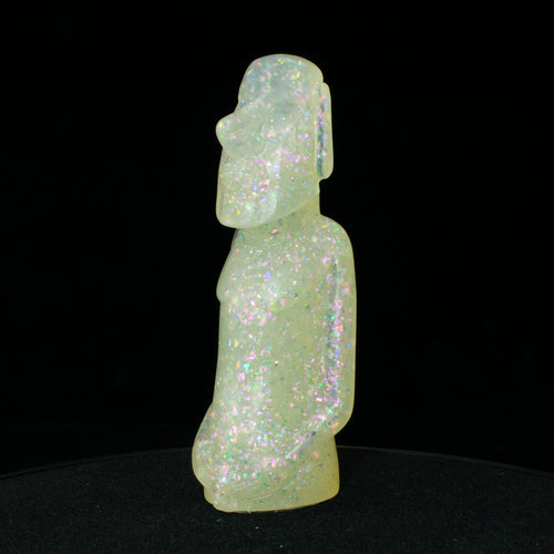 Mini Moai Figure, Unicorn Ice