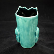 Load image into Gallery viewer, Terrible Tiki Mug, Translucent Teal with Black
