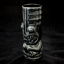 Load image into Gallery viewer, Toothy Tiki Mug, Gloss Translucent Black Glaze