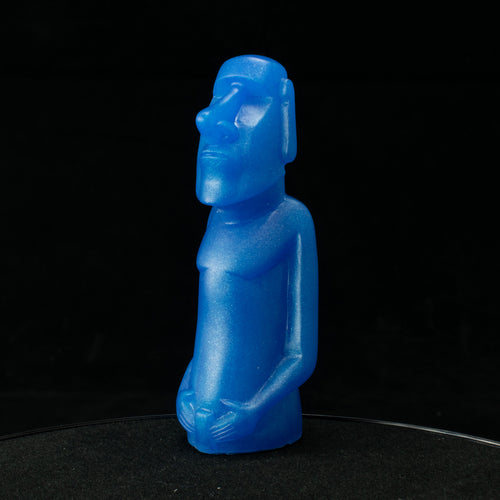 Mini Moai Figure, Cosmic Blue Pearl